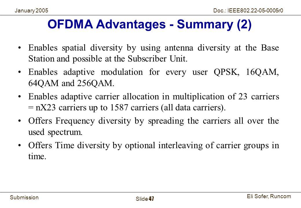 OFDMA Advantages - Summary (2)