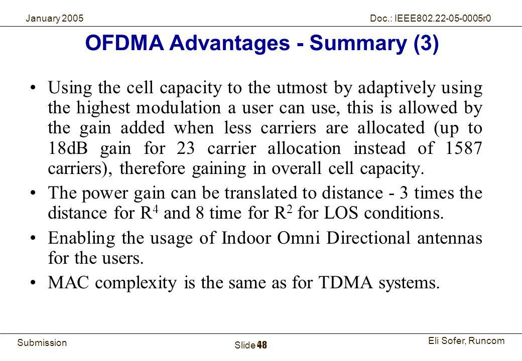 OFDMA Advantages - Summary (3)