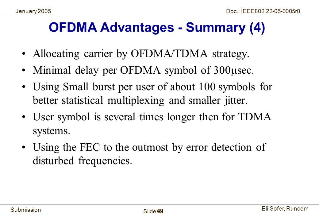 OFDMA Advantages - Summary (4)
