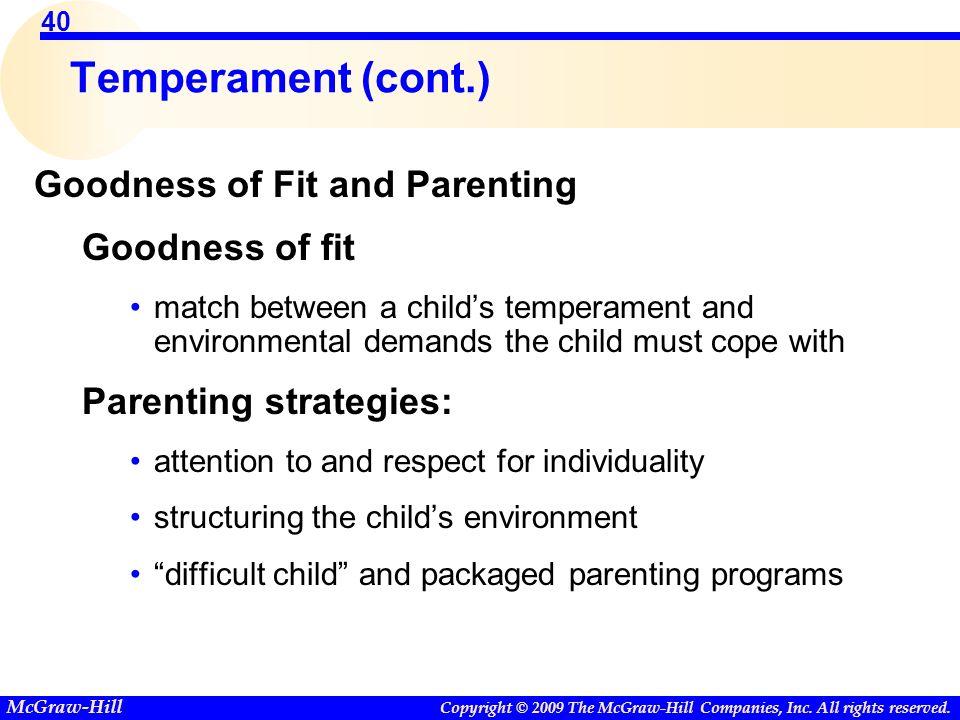 goodness of fit temperament