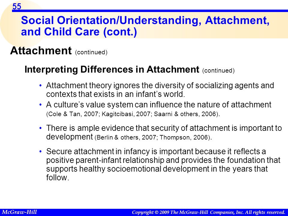 development of positive attachments in the Attachment theory is founded on the idea that an infant's early relationship with their caregiver is crucial for social and emotional development.