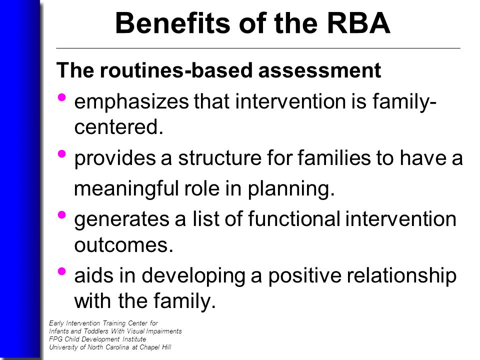 family centered assessment Module two: family-centered assessment 2 family members we would conduct assessments for many reasons, some of which are: when a child has been referred to a child.