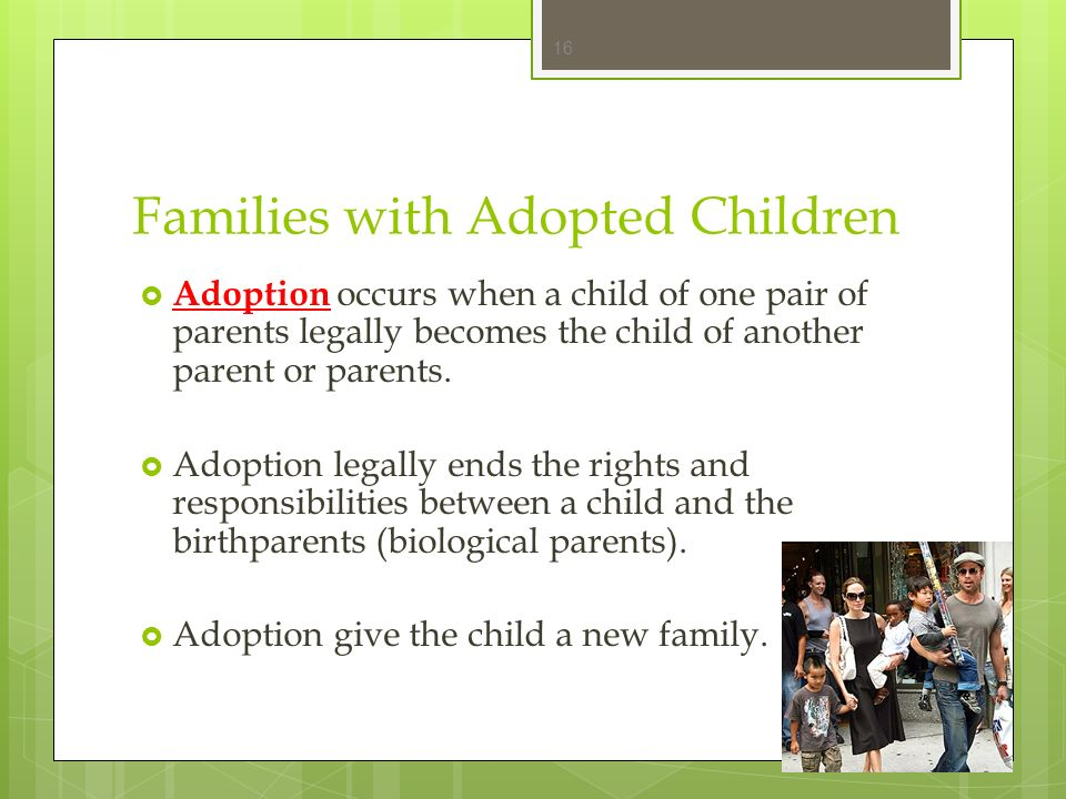 Families with Adopted Children
