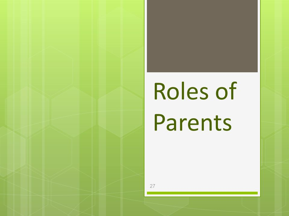 Roles of Parents
