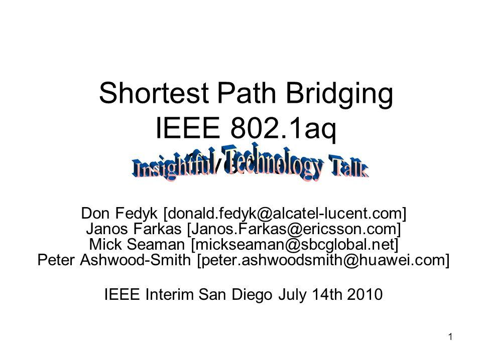 Shortest Path Bridging IEEE 802 1aq Overview