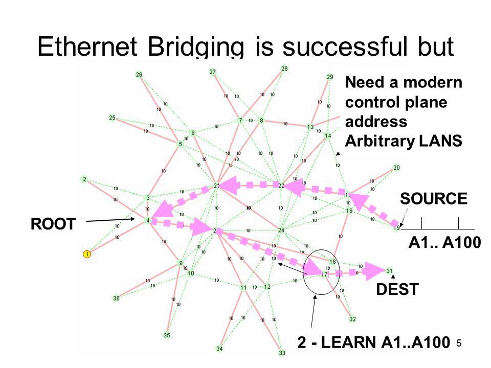 Ethernet Bridging is successful but