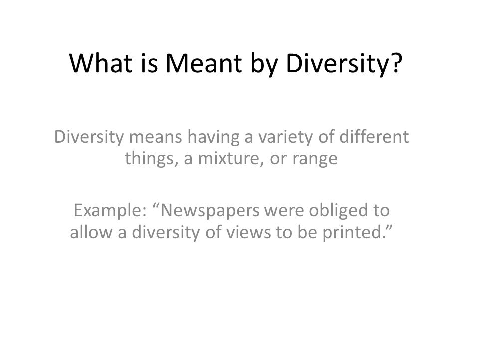examples of why diversity is important This lesson defines the word diversity it also gives examples of both visible and invisible diversity some examples of understanding diversity and why it is important are also discussed.