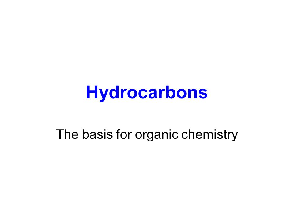 The basis for organic chemistry