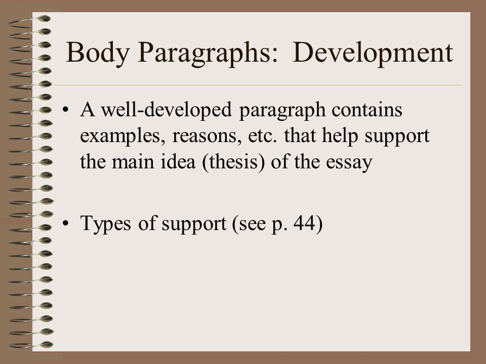 the body of the 5 paragraph essay contains paragraphs Bookrags articles how to then the essay becomes confusing body paragraph one will here is a diagram of the basic essay guidelines remember, body paragraphs.