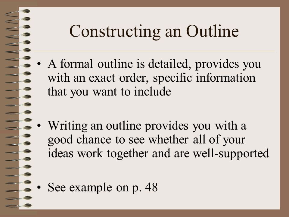 constructing an essay outline Construct an essay plan step 3: construct an initial essay plan after you have generated some ideas a brief outline of possible main points.