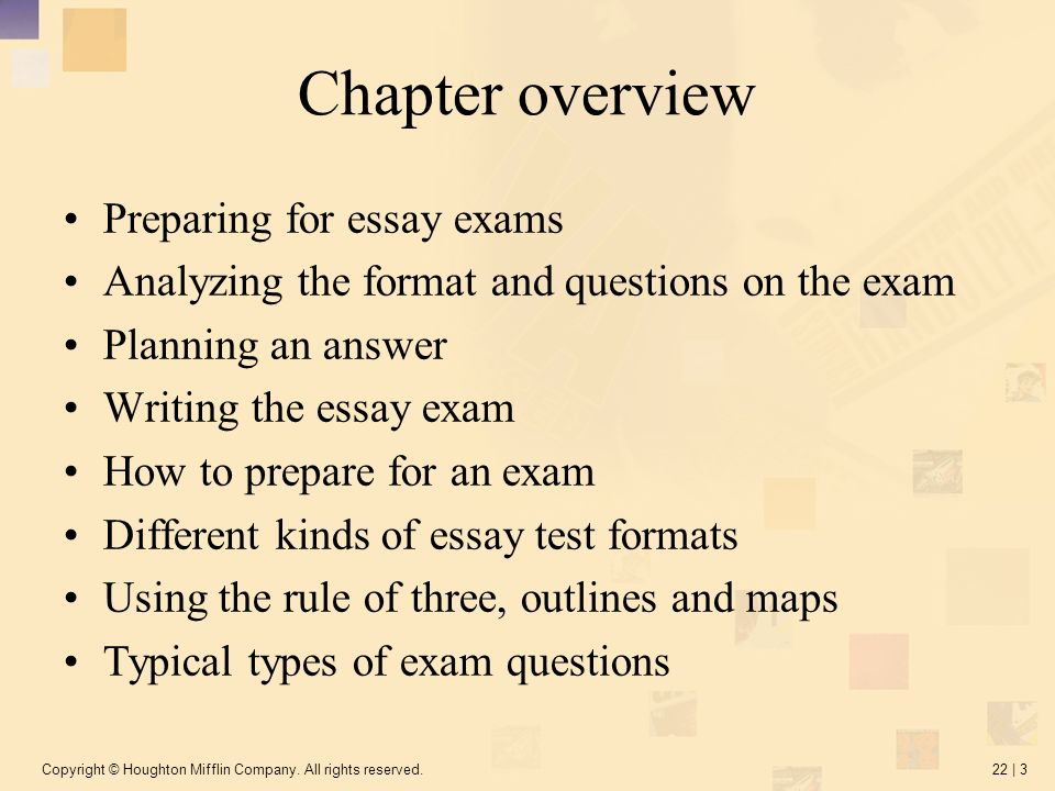 Different types of essay question