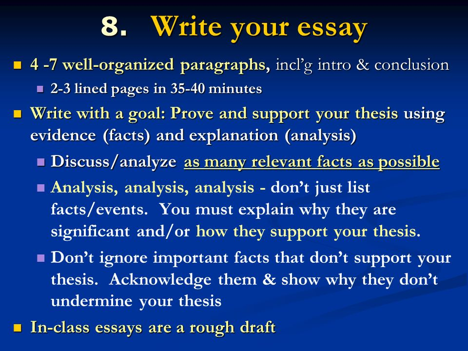 answering apush essay questions ppt video online  write your essay 4 7 well organized paragraphs incl g