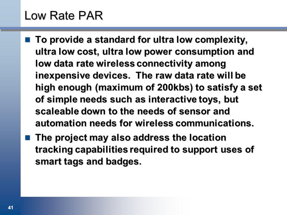 Low Rate PAR