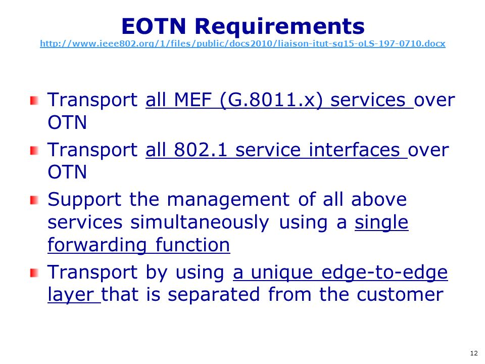 EOTN Requirements http://www. ieee802