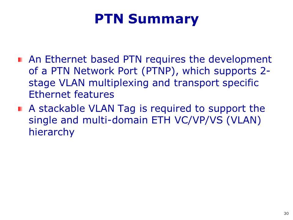PTN Summary