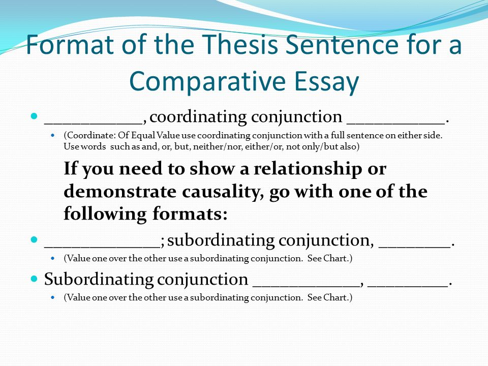 Comparative Essay Format