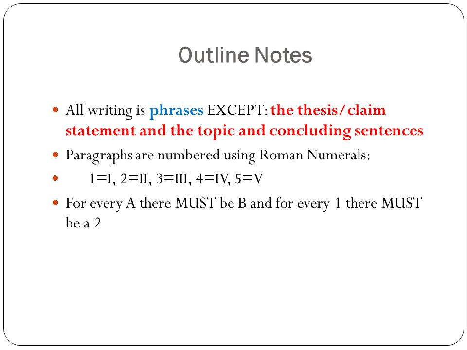 notes on essay