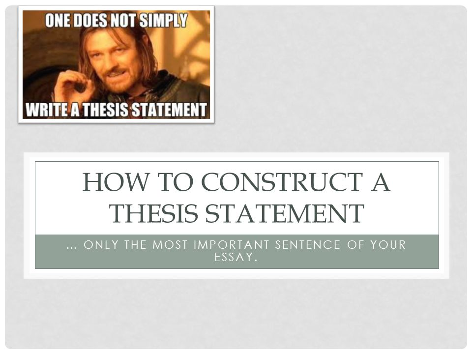 thesis statement constructions Environment conservation thesis statements thesis statement and informal outline worksheet thesis statement and informal outline worksheet thesis statement: to effectively achieve personal responsibility you must hold yourself accountable for what you're trying to accomplish.