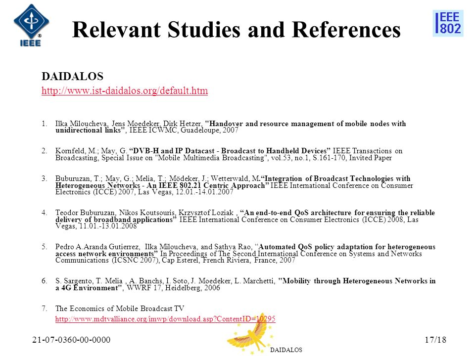 Relevant Studies and References