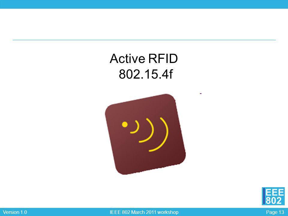 Active RFID 802.15.4f