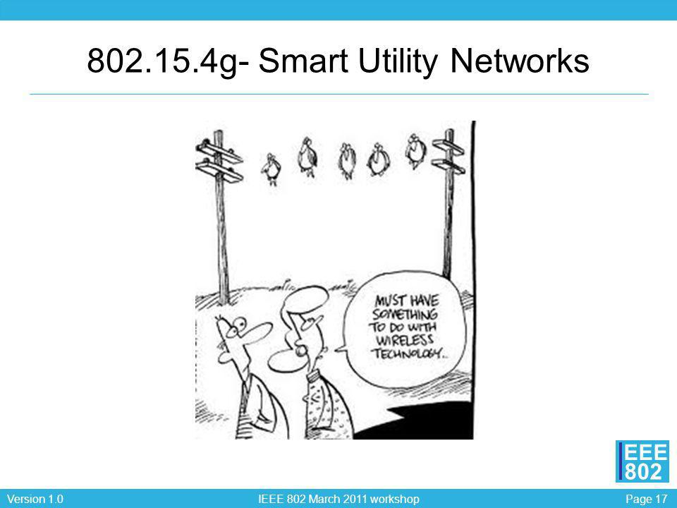 802.15.4g- Smart Utility Networks