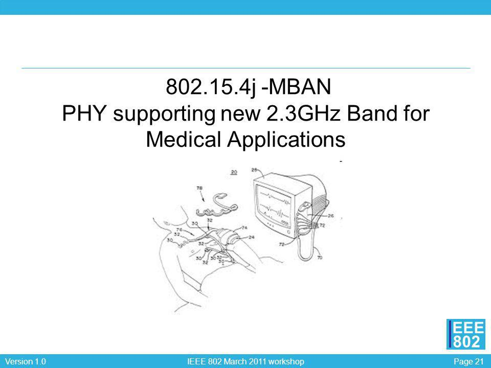 802. 15. 4j -MBAN PHY supporting new 2