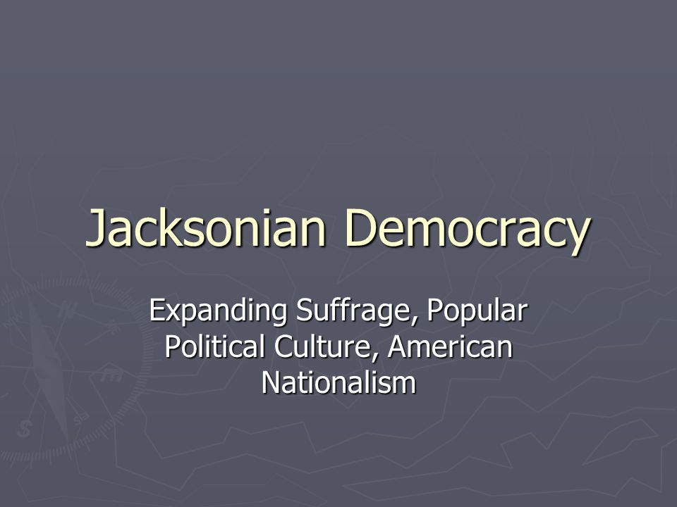 andrew jackson and the new american nationalism Georgia decision marked the first time an american president turned to a   jackson's act helped to popularize religious nationalism in ways that would have .