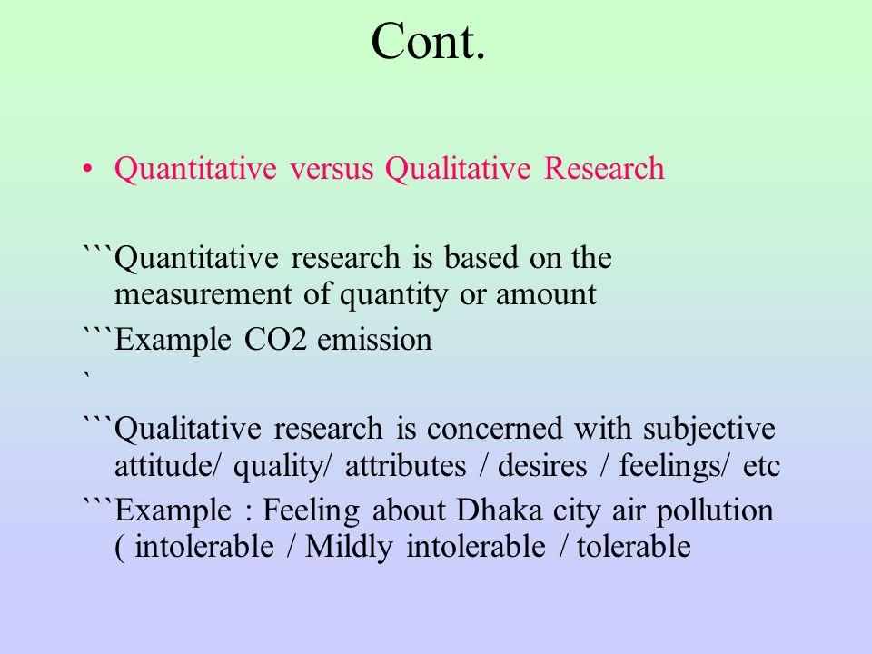 Quantitative research characteristics