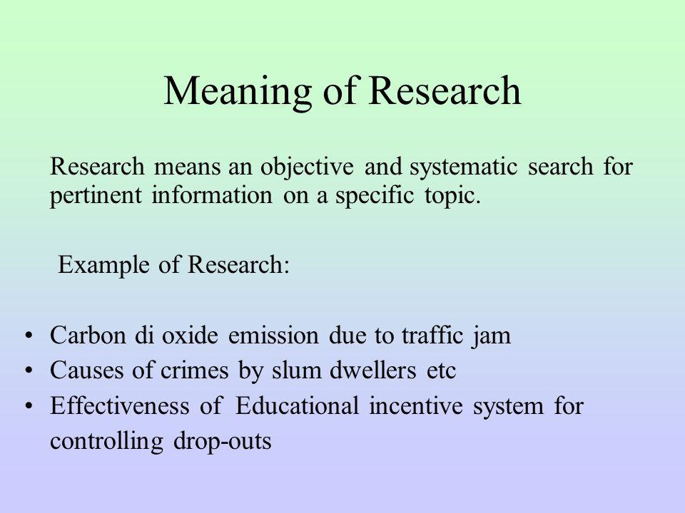 define research report