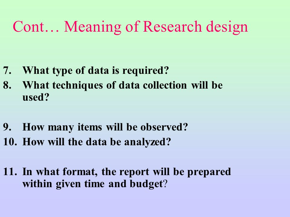 meaning of research methodology Your research method depends on the question that you wish to answer, and the philosophy that underpins your view of research the best place to start is our page an introduction to research methods this sets out the basic principles of research design, and the role of the researcher.