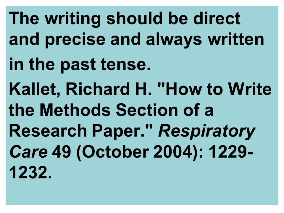 thesis methodology past tense Read to discover when to use the past and present tenses in your journal abstract.
