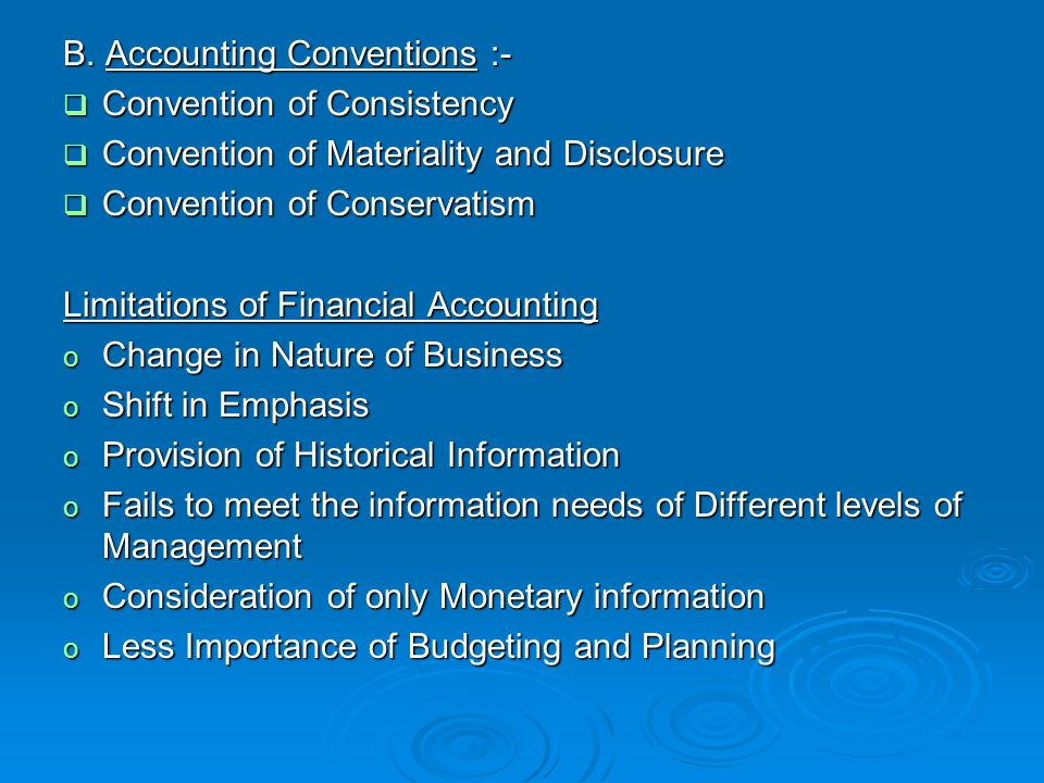 nature of accounting and the accounting Statement of financial accounting concepts (sfac) no 2 (1980) indicates that there are five main qualitative characteristics of accounting information understandability, relevance, reliability, comparability, and consistency nature and purpose of the conceptual framework the conceptual frame work has some disadvantages.