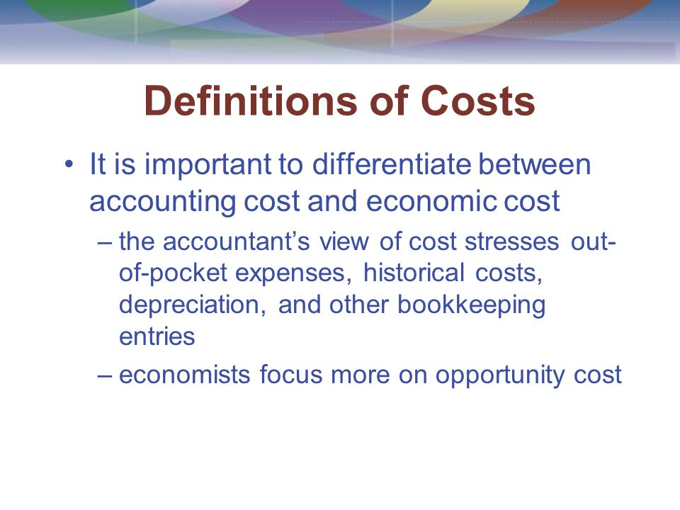 what is the difference between out of pocket cost and opportunity cost Price changes over time cause a difference between historical costs and replacement costs for example, suppose that the price of a machine in 1995 was rs 1, 00,000 and its present price is rs 2, 50,000, the actual cost of rs 1, 00,000 is the historical cost while rs 2, 50,000 is the replacement cost.