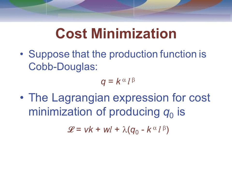 how to find production function from cost function