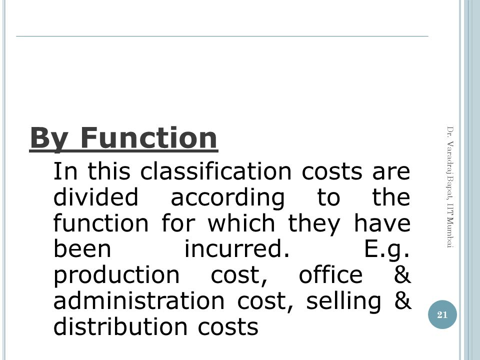 By Function
