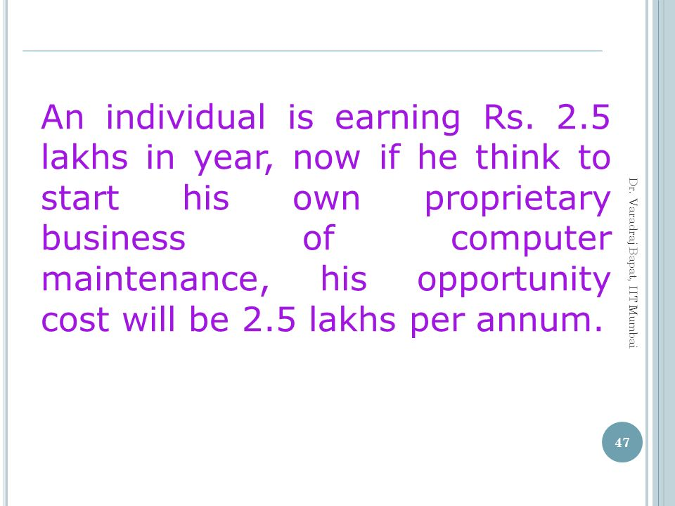 An individual is earning Rs. 2