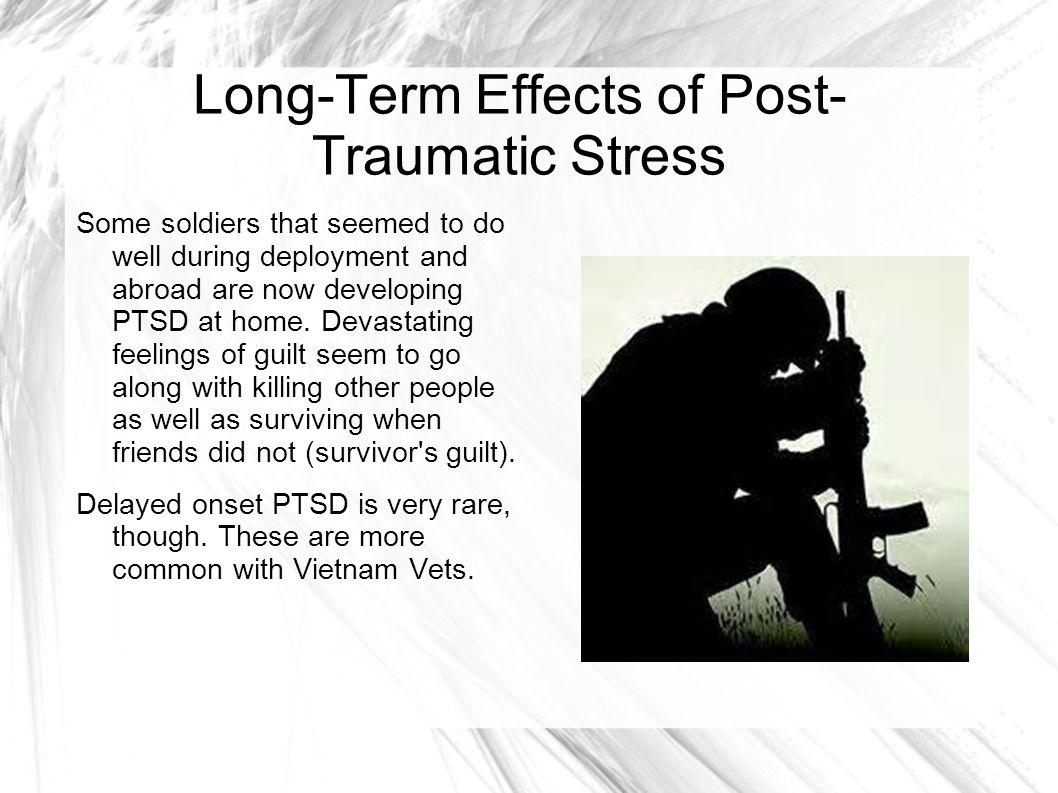 post traumatic stress in vietnam Decades after vietnam, retired veterans seek help for post- traumatic stress  disorder (ptsd.