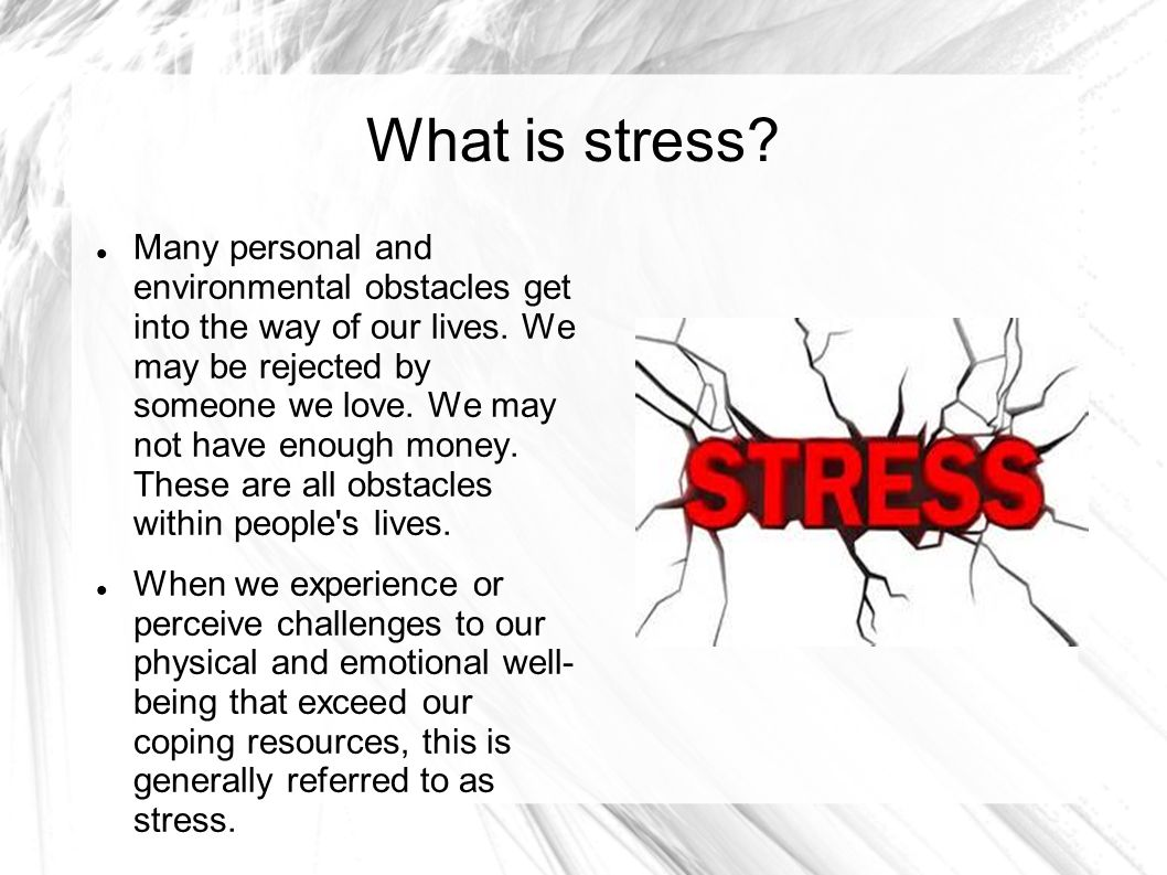 coping with stress within our lives Humor and mental health: using humor to cope with stress  some of those qualities within yourself  on seniors' ability to cope with the stress in their lives.