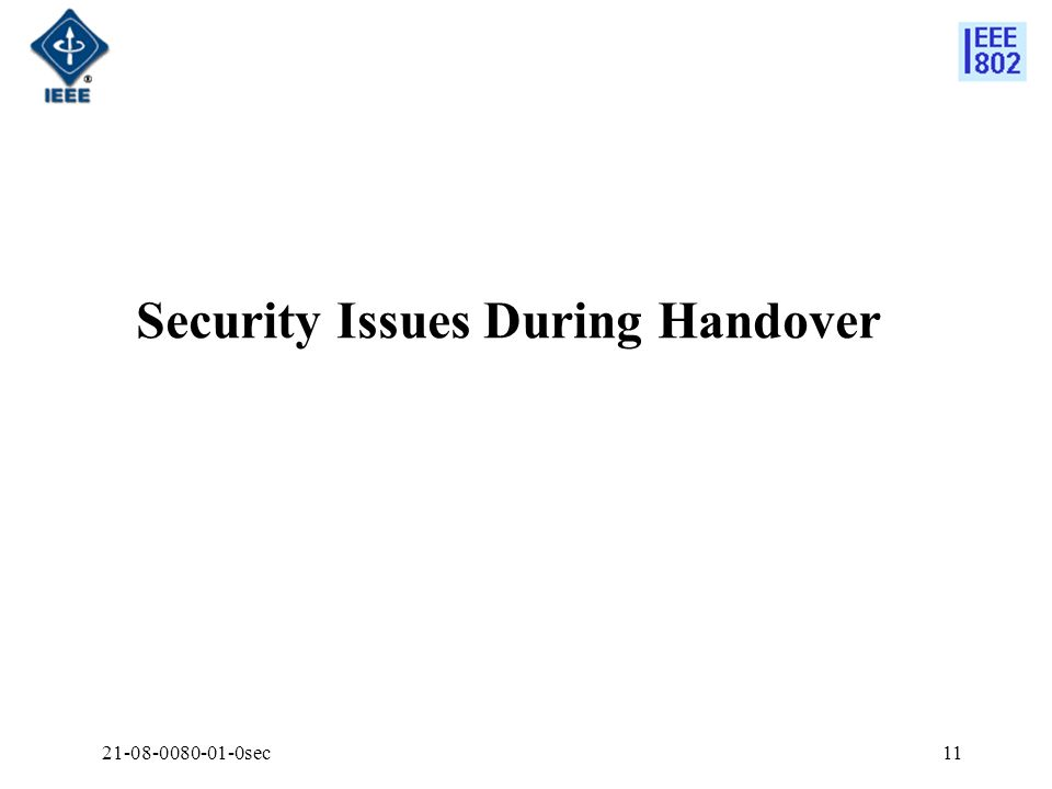 Security Issues During Handover
