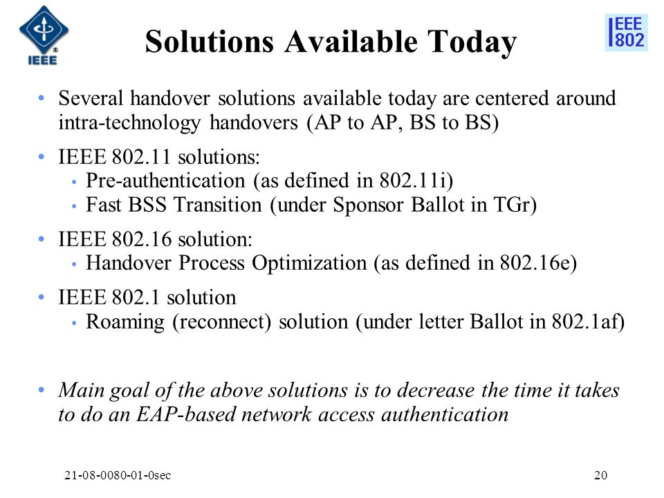 Solutions Available Today