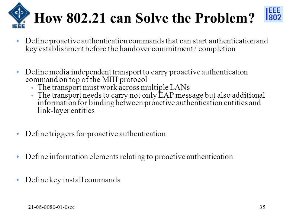How 802.21 can Solve the Problem