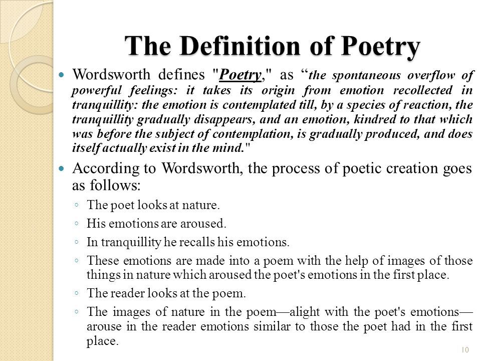 poetry is a spontaneous overflow of powerful feeling recalled in tranquility wordsworth