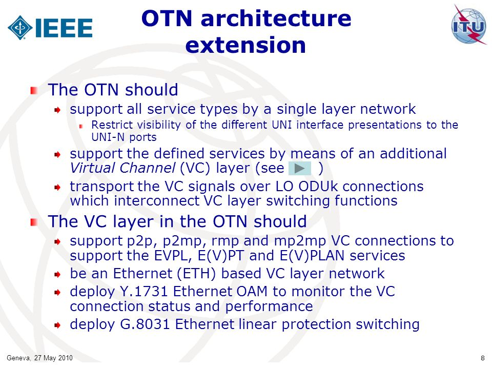 OTN architecture extension