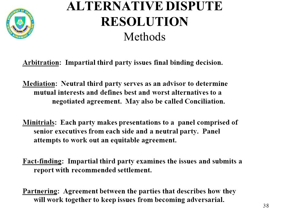 alternative dispute resolution methods pdf