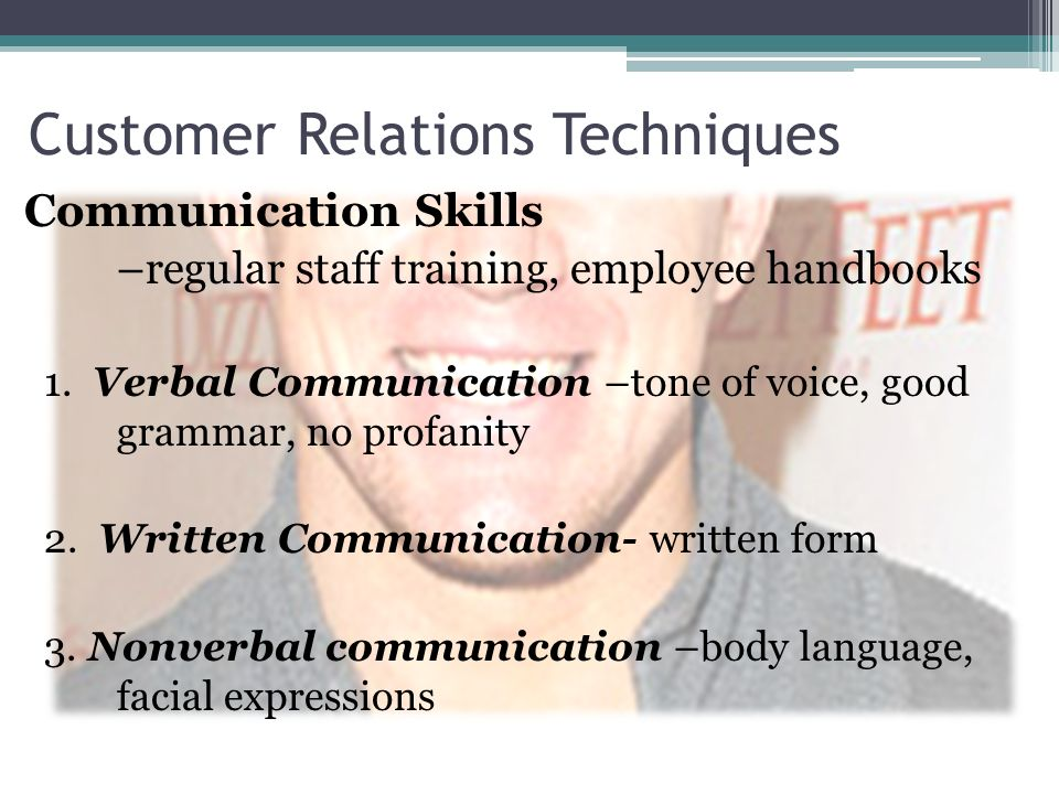 Customer Relations Techniques