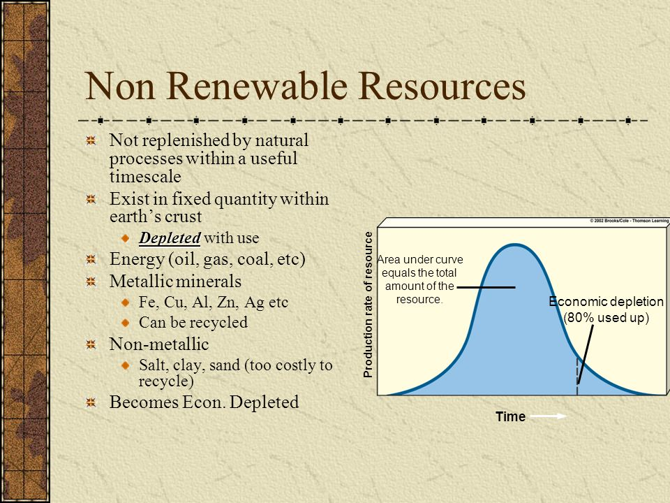 depletion of non renewable resources of A non-renewable resource – is what we have and use that cannot  of a  renewable resource or depletion of non-renewable resources.