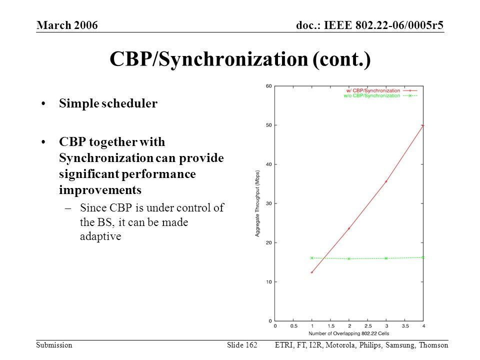 CBP/Synchronization (cont.)