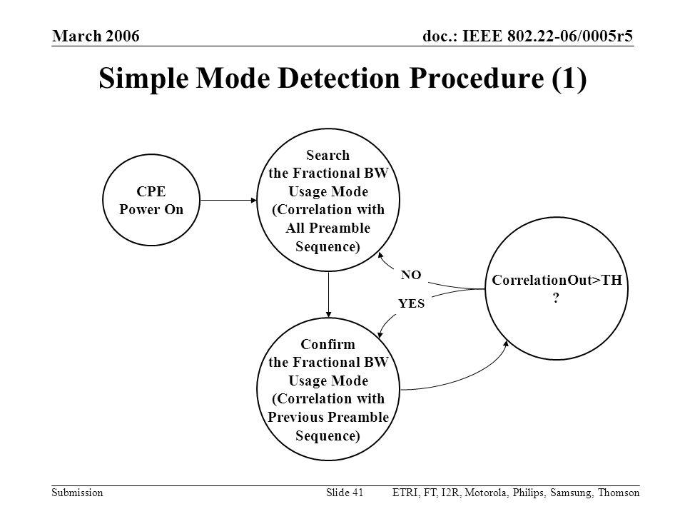 Simple Mode Detection Procedure (1)