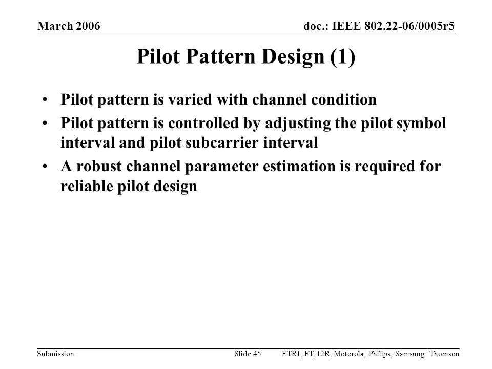Pilot Pattern Design (1)