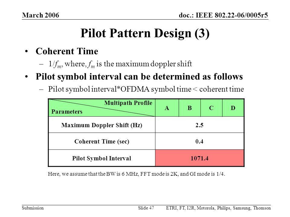 Pilot Pattern Design (3)